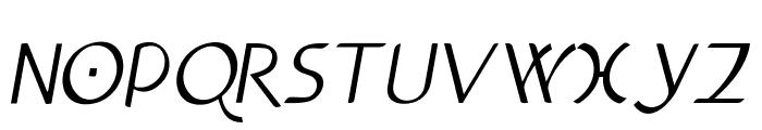 Anchor-Italic Font UPPERCASE