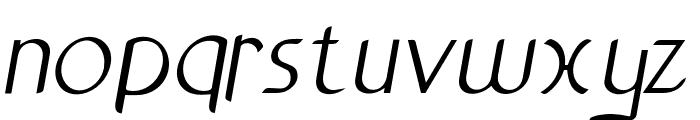 Anchor-Italic Font LOWERCASE
