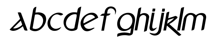 Anchor-Italicbold Font LOWERCASE