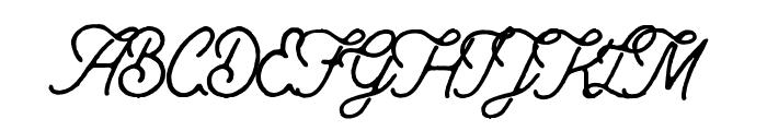 Anchorage Script Rough Font UPPERCASE