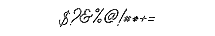 AnchorageScript-Press Font OTHER CHARS