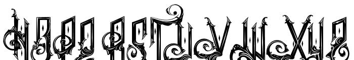 Ancient sword Font UPPERCASE