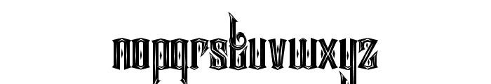 Ancient sword Font LOWERCASE