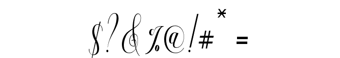 Aneisha Script Font OTHER CHARS
