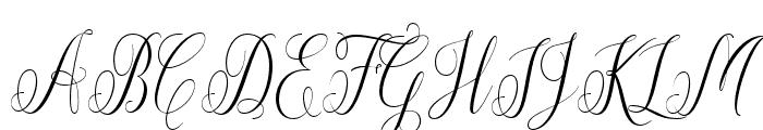 Aneisha Script Font UPPERCASE