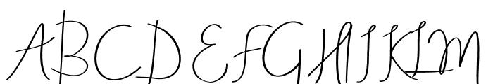 AneishaScript Font UPPERCASE