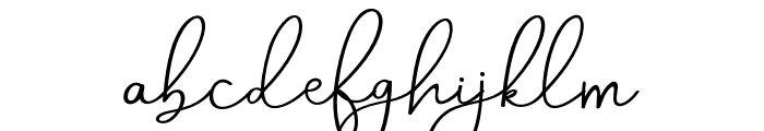AneishaScript Font LOWERCASE