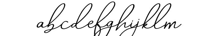 AneishaScriptitalic Font LOWERCASE