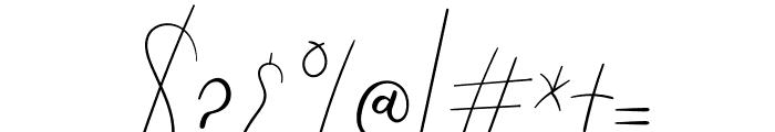 Angela Aiglory Font OTHER CHARS