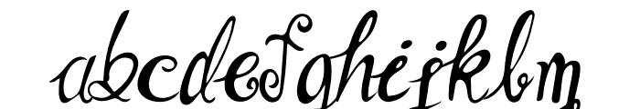 Angela Happy Font LOWERCASE