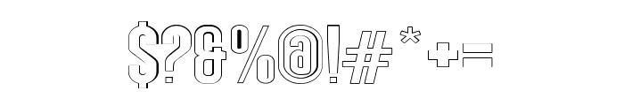 Angela Love Sans Outline Font OTHER CHARS