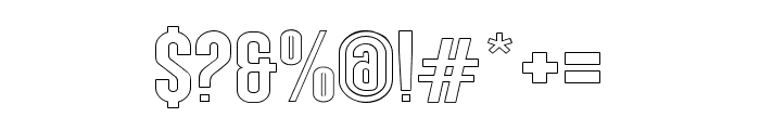 AngelaLoveSansOutline Font OTHER CHARS