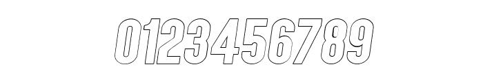 AngelaLoveSansOutlineItalic Font OTHER CHARS