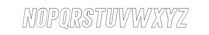 AngelaLoveSansOutlineItalic Font LOWERCASE