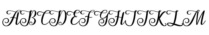 AngelaScript Font UPPERCASE
