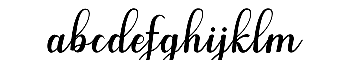 AngelaScript Font LOWERCASE