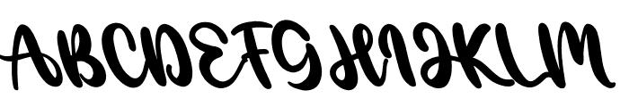 Angelica Caroline Tilted Font UPPERCASE