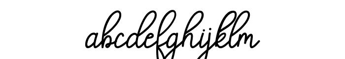 Angelica script Font LOWERCASE