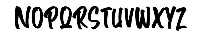 Angle Janks Font UPPERCASE