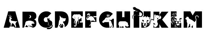 Animal Kingdom Regular Font LOWERCASE