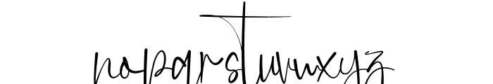 Anjany Sallentiny Font LOWERCASE