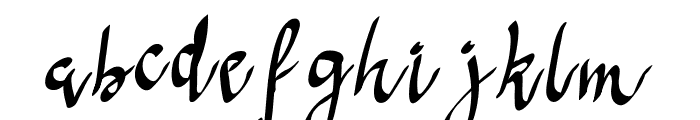 Anoma One Font LOWERCASE