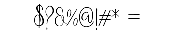 Anteater Font OTHER CHARS