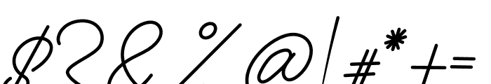 Anthoni Signature Bold Font OTHER CHARS