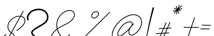 Anthoni Signature Font OTHER CHARS