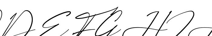 Anthoni Signature Font UPPERCASE