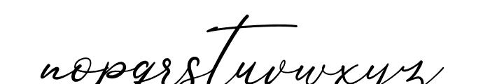 Anthoni Signature Font LOWERCASE