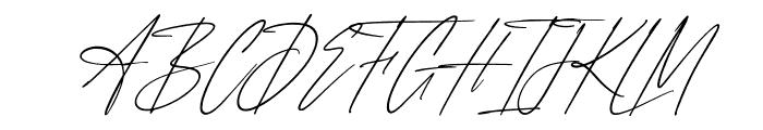Anxiety Signature Slant Font UPPERCASE
