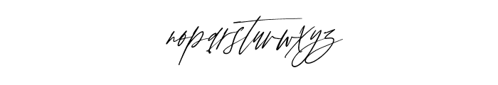 Anxiety Signature Slant Font LOWERCASE