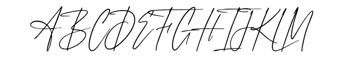 Anxiety Signature Font UPPERCASE