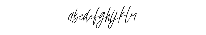 Anxiety Signature Font LOWERCASE
