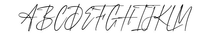 AnxietySignature Font UPPERCASE