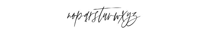 AnxietySignature Font LOWERCASE