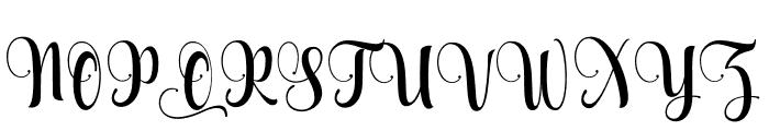 Aqualita Font UPPERCASE