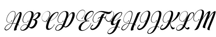 AqualitaItalic Font UPPERCASE
