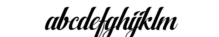 AqualitaItalic Font LOWERCASE