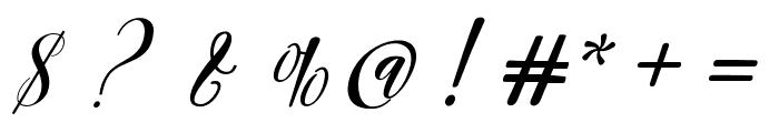 ArcheryScript Font OTHER CHARS