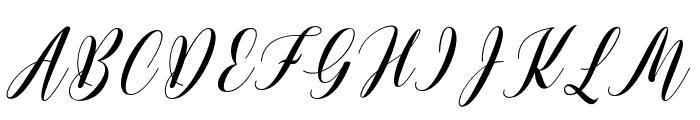 ArcheryScript Font UPPERCASE