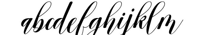 ArcheryScript Font LOWERCASE