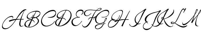 ArmelyaScript Font UPPERCASE