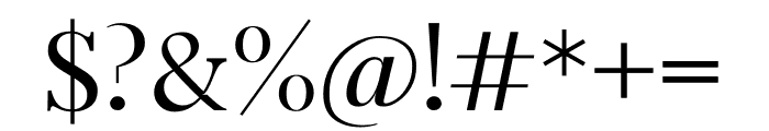 Arterio Font OTHER CHARS