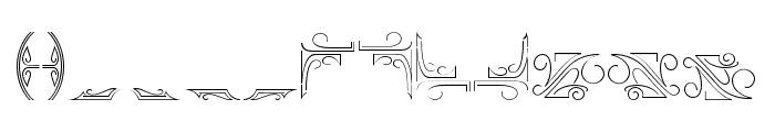 ArthouseOrnament01 Font LOWERCASE