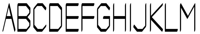 Artwork regular Font UPPERCASE