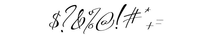Asgard Slant Font OTHER CHARS