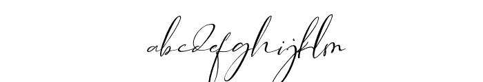 Asgard Slant Font LOWERCASE