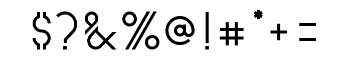 Astrobia Bold Font OTHER CHARS